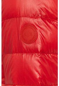 Czerwona kurtka Armani Exchange casualowa, bez kaptura