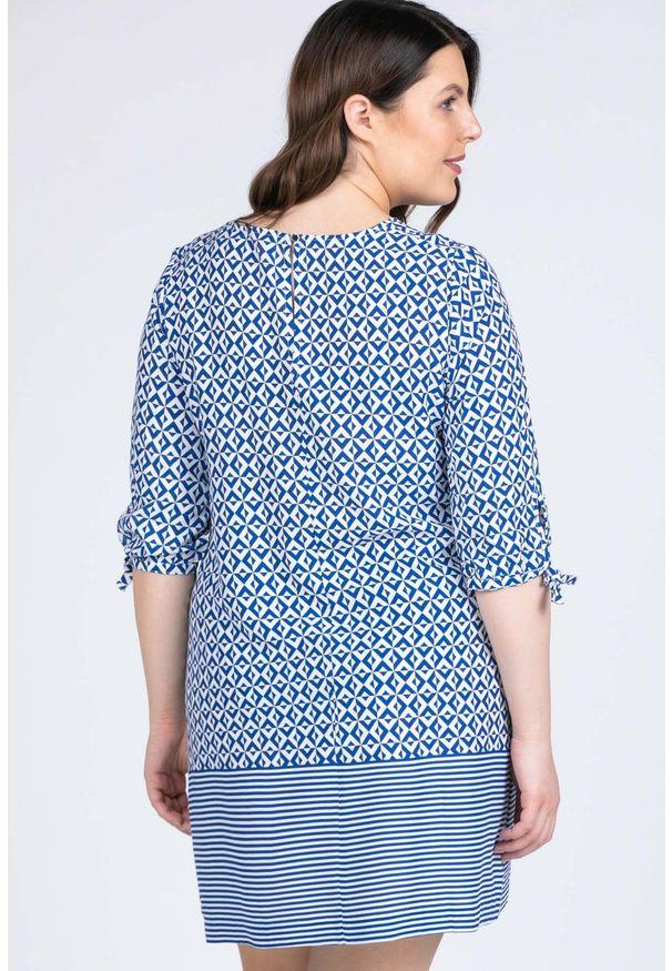 Niebieska sukienka Monnari mini, casualowa, z krótkim rękawem