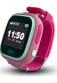 Smartwatch CALMEAN Touch Różowy. Rodzaj zegarka: smartwatch. Kolor: różowy