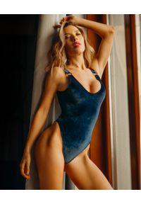 MISSION SWIM - Jednoczęściowy strój Courtney. Kolor: niebieski. Materiał: tkanina, materiał #1
