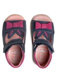 RenBut - Sandały RENBUT - 11-1557 Jeans 1. Kolor: niebieski. Materiał: skóra. Wzór: aplikacja #7