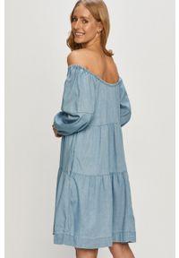 Vila - Sukienka. Kolor: niebieski. Długość rękawa: długi rękaw