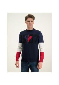 Niebieski sweter klasyczny Rossignol