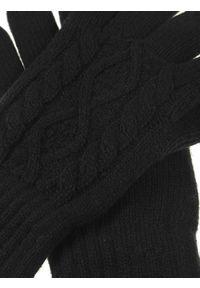 Czarne rękawiczki TOP SECRET na zimę, w kolorowe wzory, klasyczne