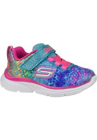 Wielokolorowe sneakersy skechers w kolorowe wzory, z cholewką