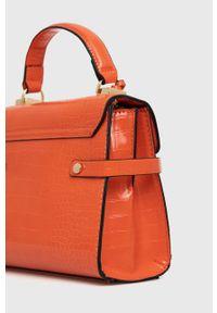 Aldo - Torebka. Kolor: pomarańczowy. Rodzaj torebki: na ramię