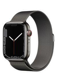 APPLE - Smartwatch Apple Watch 7 GPS+Cellular 45mm stal, grafitowy |grafitowa bransoleta mediolańska. Rodzaj zegarka: smartwatch. Kolor: szary