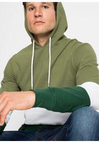 Bluza z kapturem bonprix zielony lodenowy - biały - ciemnozielony w paski. Typ kołnierza: kaptur. Kolor: zielony. Wzór: paski #5