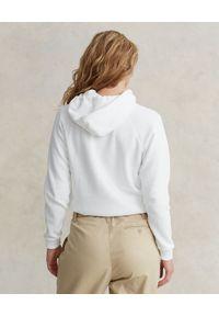 Ralph Lauren - RALPH LAUREN - Biała bluza z kapturem Relaxed fit. Typ kołnierza: kaptur. Kolor: biały. Materiał: bawełna. Długość rękawa: długi rękaw. Długość: długie. Wzór: haft