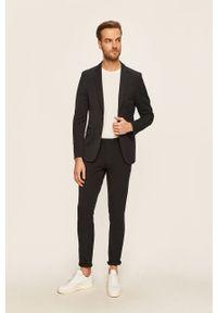 Niebieskie spodnie Tailored & Originals casualowe, na co dzień
