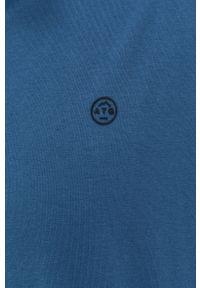 Wrangler - Bluza ATG. Okazja: na co dzień. Kolor: niebieski. Materiał: dzianina, materiał. Długość: krótkie. Wzór: gładki. Styl: casual