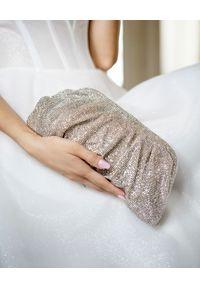 BENEDETTA BRUZZICHES - Torebka z kryształów Venus Large Jonquile. Kolor: srebrny. Wzór: aplikacja. Rodzaj torebki: do ręki