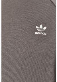 adidas Originals - Bluza bawełniana. Okazja: na co dzień. Kolor: szary. Materiał: bawełna. Długość rękawa: raglanowy rękaw. Styl: casual