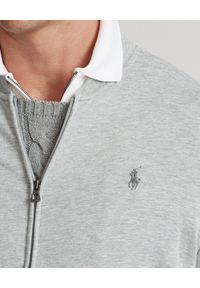 Ralph Lauren - RALPH LAUREN - Szala bluza Baseball. Typ kołnierza: polo. Kolor: szary. Materiał: tkanina, prążkowany, bawełna. Wzór: haft