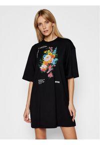 Czarna sukienka letnia MSGM na co dzień, prosta, casualowa