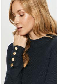 Niebieski sweter Jacqueline de Yong długi, z długim rękawem