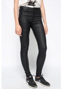 Vero Moda - Spodnie Smooth. Kolor: czarny
