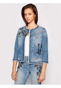 Liu Jo Kurtka jeansowa UA1033 D4598 Granatowy Regular Fit. Kolor: niebieski. Materiał: jeans