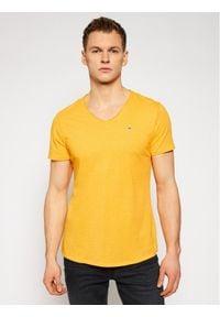 Tommy Jeans T-Shirt Jaspe DM0DM09587 Żółty Slim Fit. Kolor: żółty