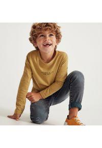 Reserved - Bawełniana koszulka z nadrukiem - Brązowy. Kolor: brązowy. Materiał: bawełna. Wzór: nadruk