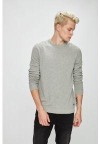 Szary sweter PRODUKT by Jack & Jones z okrągłym kołnierzem, casualowy