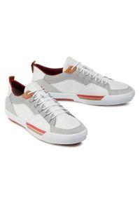 Białe sneakersy Geox z cholewką