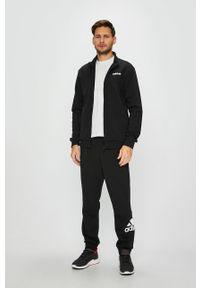 Czarna bluza rozpinana adidas Performance z nadrukiem, na co dzień