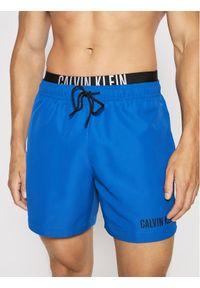 Calvin Klein Swimwear Szorty kąpielowe Double Wb KM0KM00552 Niebieski Regular Fit. Kolor: niebieski