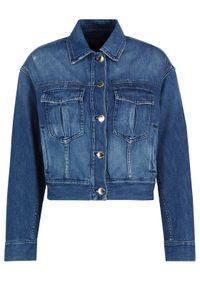 Niebieska kurtka jeansowa Pinko
