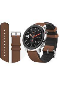 Szary zegarek AMAZFIT casualowy, smartwatch