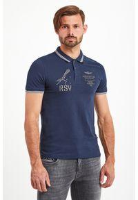 Koszulka polo Aeronautica Militare sportowa, polo, w kolorowe wzory