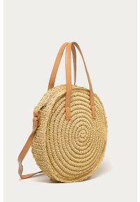 Kremowa torba plażowa ANSWEAR wakacyjna