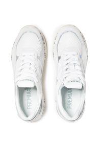 Białe sneakersy Premiata z cholewką, na co dzień