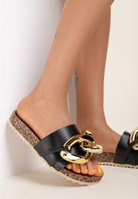 Renee - Czarne Klapki Zeuxixera. Nosek buta: okrągły. Kolor: czarny. Styl: klasyczny