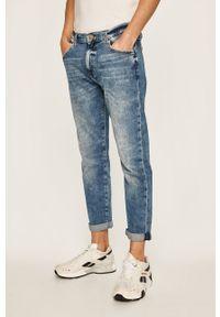 Niebieskie jeansy Tommy Jeans z aplikacjami