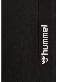 Czarna bluza rozpinana Hummel z aplikacjami, z kapturem