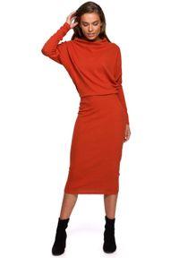 Czerwona sukienka MOE ołówkowa