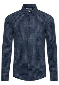 Baldessarini Koszula Keith B3 11001/000/3510 Granatowy Tailored Fit. Kolor: niebieski