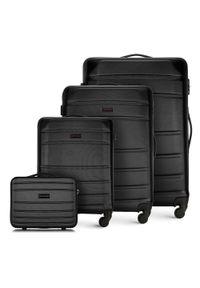 Wittchen - Zestaw walizek z ABS-u tłoczonych. Kolor: czarny