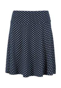Cellbes Dżersejowa spódnica w kropki granatowy w kropki female niebieski/ze wzorem 54/56. Kolor: niebieski. Materiał: jersey. Wzór: kropki
