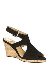 Czarne sandały Caprice na lato, eleganckie, w kolorowe wzory