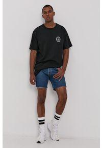 Vans - T-shirt. Okazja: na co dzień. Kolor: czarny. Materiał: dzianina, materiał. Wzór: nadruk. Styl: casual