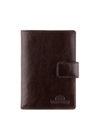 Wittchen - Męski portfel ze skóry zapinany na napę. Kolor: brązowy. Materiał: skóra
