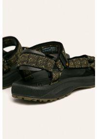 Oliwkowe sandały Teva gładkie, na rzepy