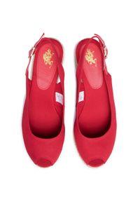 Czerwone sandały U.S. Polo Assn casualowe, na co dzień