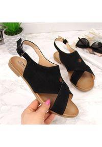 Czarne sandały Juma