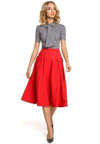 Czerwona spódnica rozkloszowana MOE