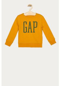 Pomarańczowa bluza GAP casualowa, bez kaptura, na co dzień, z nadrukiem