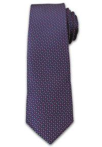 Niebieski krawat Chattier elegancki, w kolorowe wzory