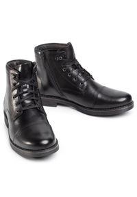 Czarne buty zimowe Sergio Bardi z cholewką, eleganckie